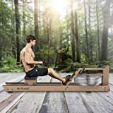 Mr Rudolf Rowing Machine with Bluetooth Monitor,Wood Oak Water Resistance Rower for Home Use Training Exercise Equipment…