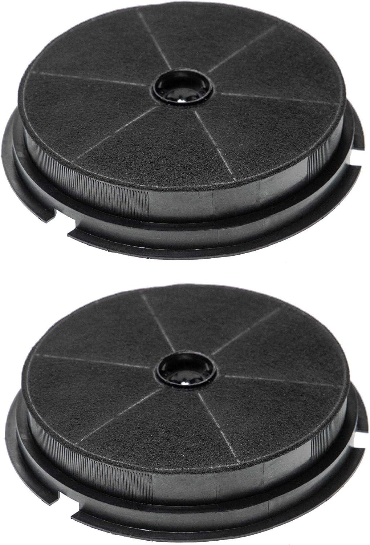 vhbw 2x Filtro de carbon activado compatible con Hotpoint Ariston SL 50 TX, SL 60 T, SL 60 TX, SL 6IX, SL 6P, SL 6PBK, SL 6PIX Campana extractora