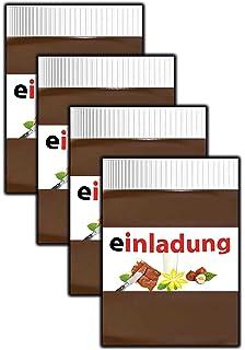 Einladungskarten Kindergeburtstag Jungen Mädchen Cool Schokolade  Ausgefallen Schokocreme   8 Stück