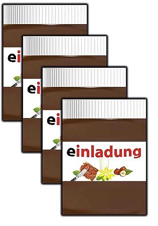 Einladungskarten Kindergeburtstag Jungen Mädchen Cool Schokolade  Ausgefallen Schokocreme   10 Stüc Cupcake Kekse Lolli Melone Ananas