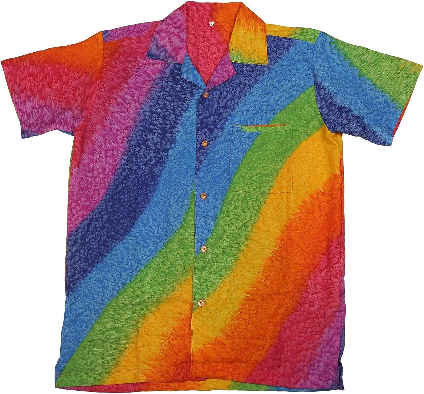 Camisa Hawaiana para Hombre, Estampado de Arcoiris, para la Playa, Fiestas, Verano y Vacaciones - 2XL: Amazon.es: Ropa y accesorios