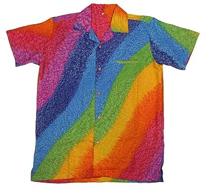 8d8944f4b Mens Hawaiian Shirt Stag Beach Hawaii Aloha Party Summer Holiday Fancy  Rainbow: Amazon.co.uk: Clothing