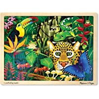 Melissa & Doug Rainforest Wooden Jigsaw Puzzle with Storage Tray (48 pcs)