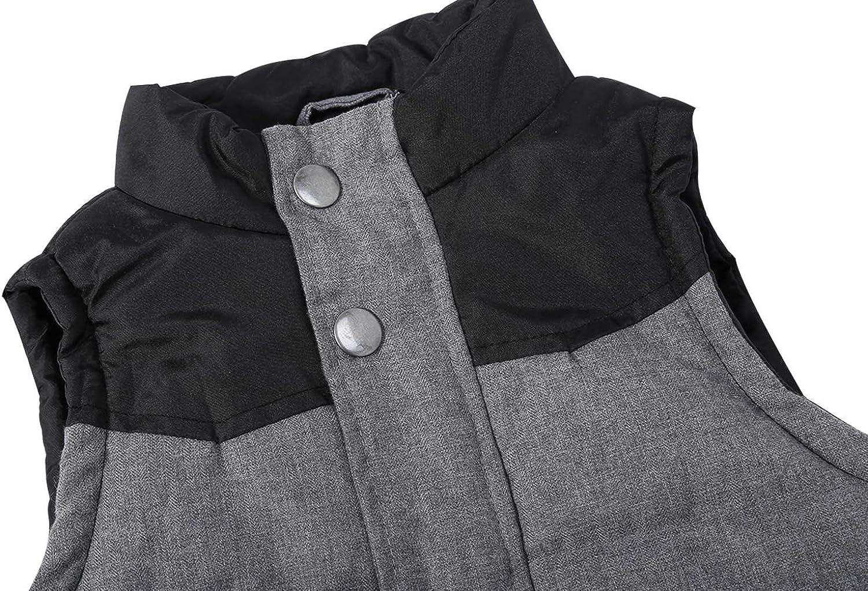 Bienzoe Little Boy Zip Quilted Sleeveless Warm Cotton-Padded Gilets
