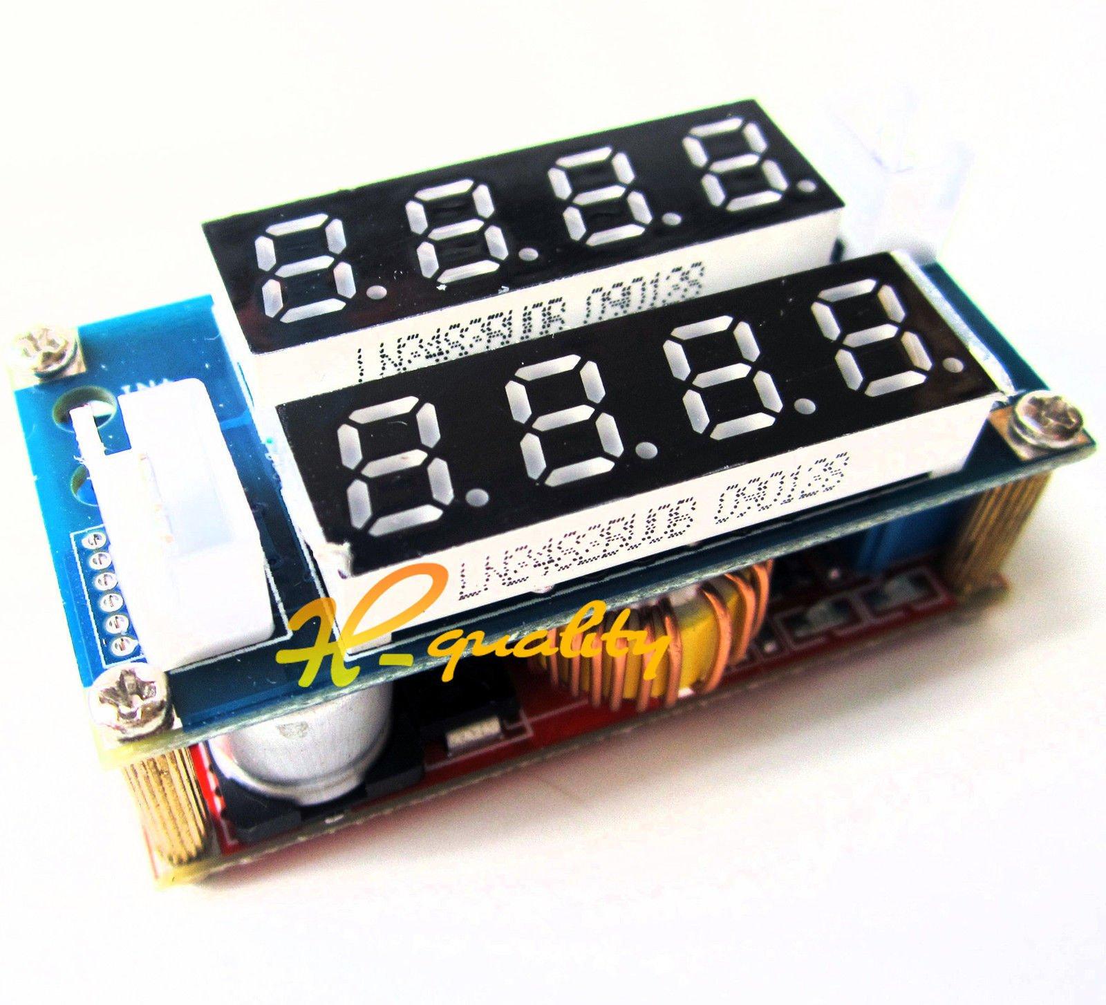 2PCS 5A Adjustable CC/CV Step Down charge Module LED Panel Voltmeter Ammeter