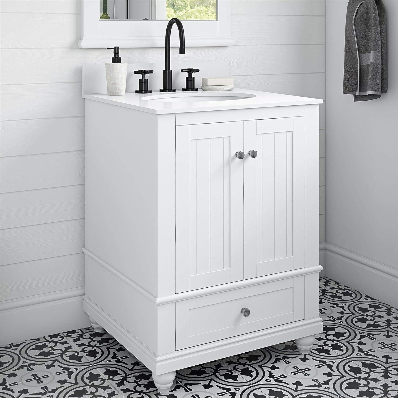 Amazon Com Dorel Living Monteray Beach 24 Inch White Bathroom Vanity 24 Furniture Decor