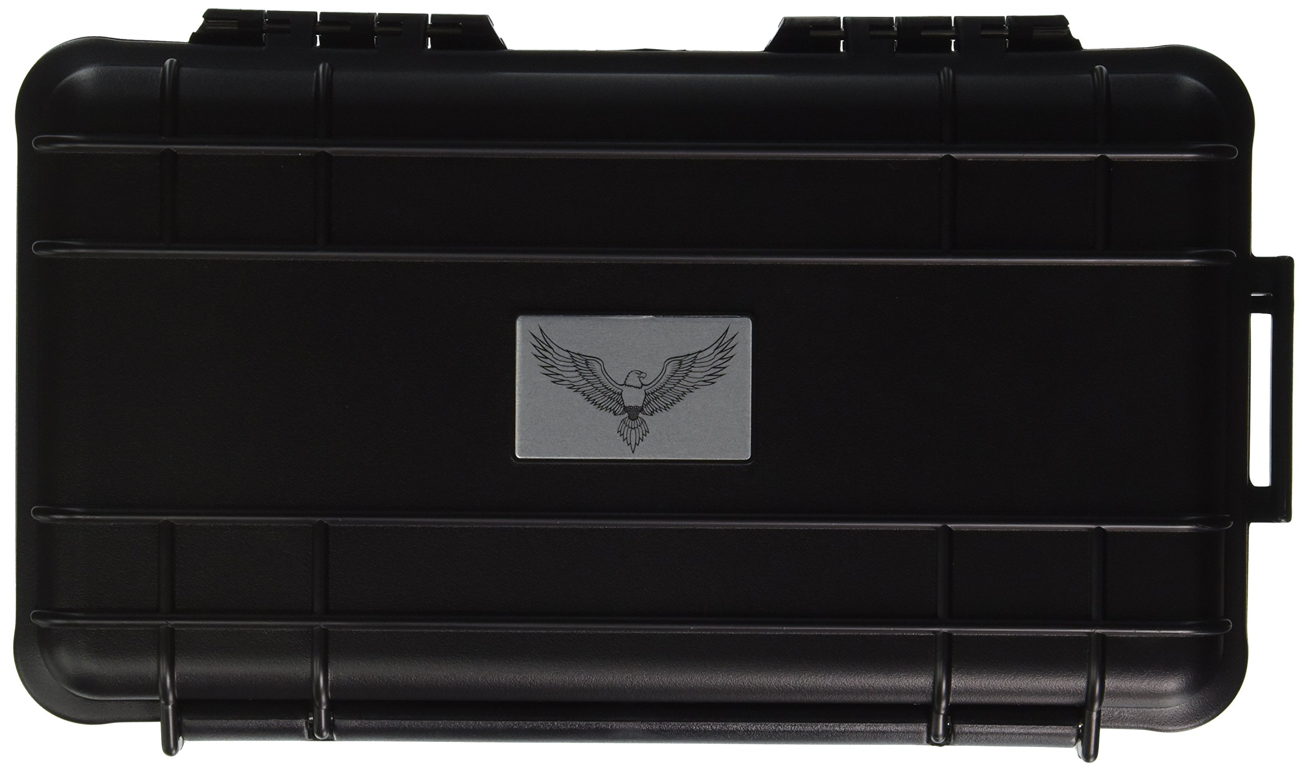 Guardsman Travel Black Rugged Cigar Travel Case 5ct