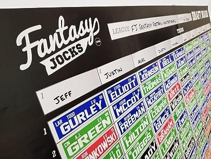 2019 Fantasy Football Draft Board Kit - 10 Team