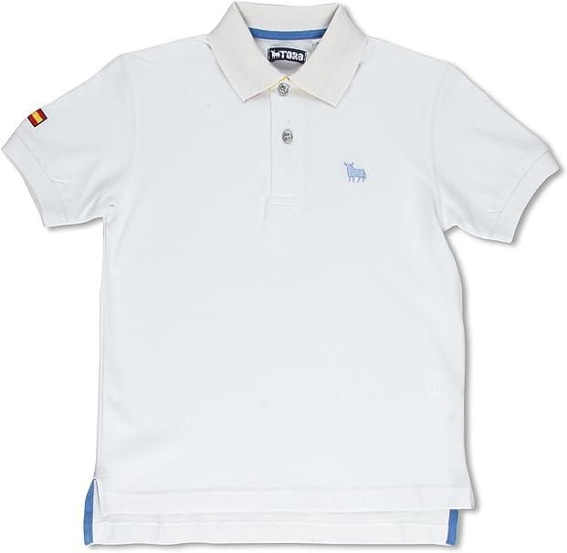 TORO Polo Junior Bandera Blanco 10 años (140 cm): Amazon.es: Ropa ...