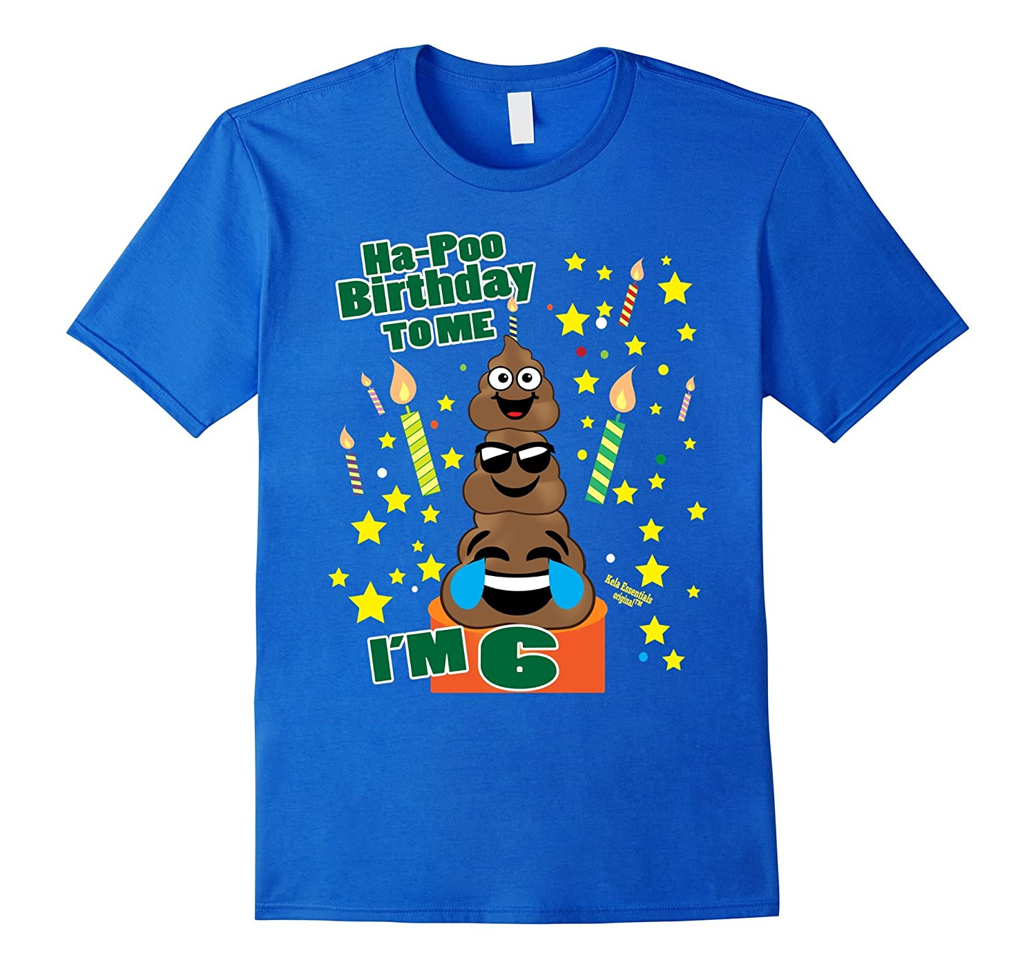 Poop Emoji Birthday Shirts Age