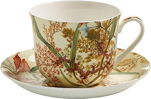 Maxwell & Williams wk00300 Kilburn Taza de Desayuno con Plato, Taza de café, Taza, Cottage Blossom, en Caja de Regalo, Porcelana: Amazon.es: Hogar