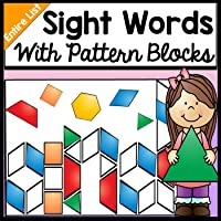 Sight Words with Pattern Blocks {220 Pages for the Entire Dolch List!} {Literacy Centers}