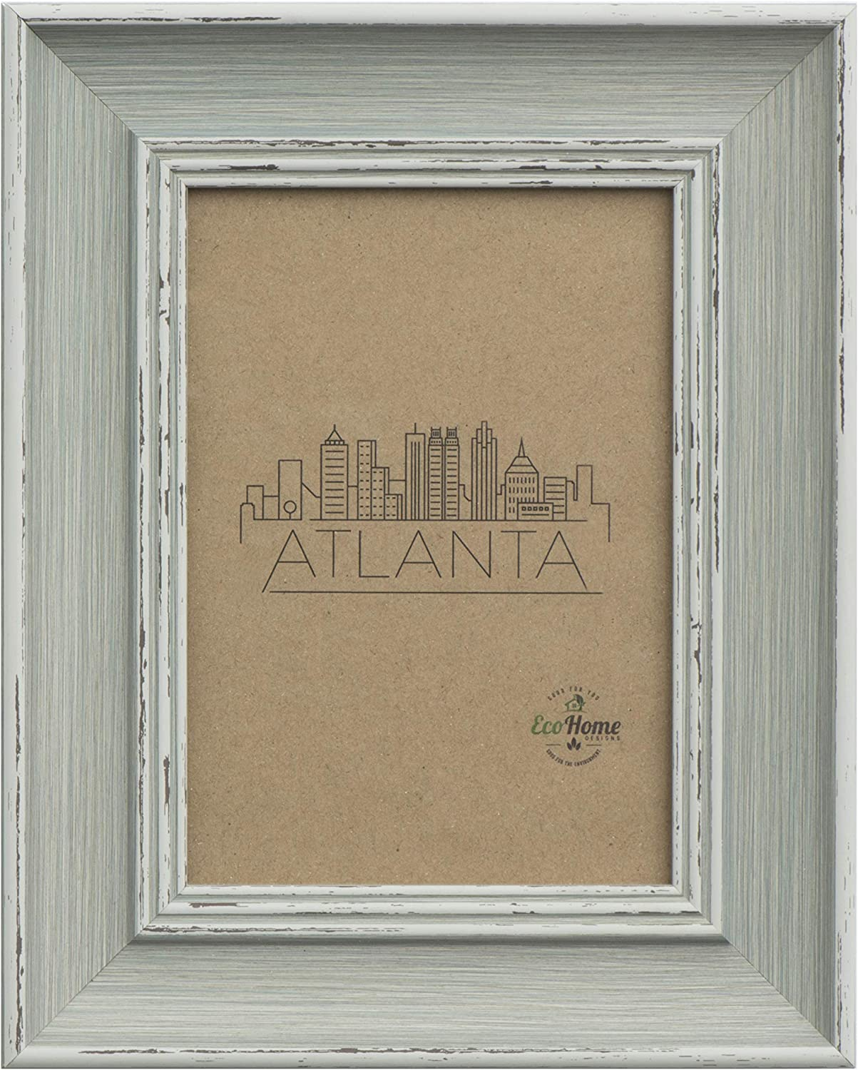 Picture Frame 8x10 Distressed Grey - for Table Top Display and Wall Mounting Frames by EcoHome