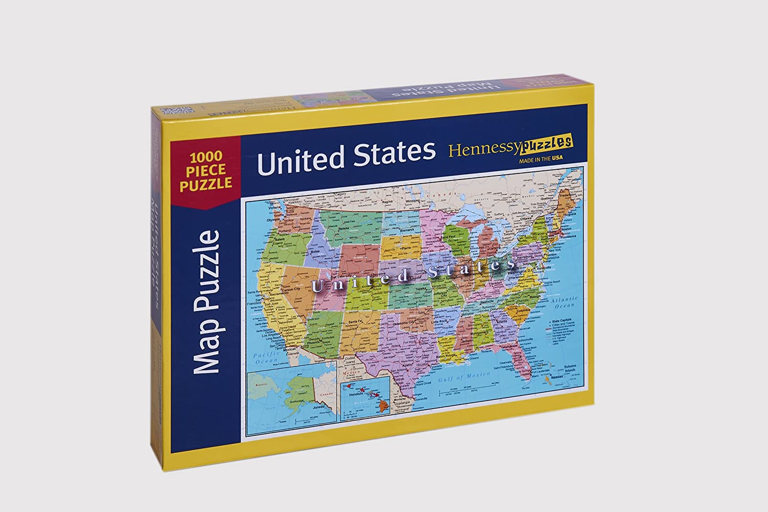 Amazon united states of america map 1000 piece jigsaw puzzle amazon united states of america map 1000 piece jigsaw puzzle highways rivers state capitals toys games ccuart Gallery
