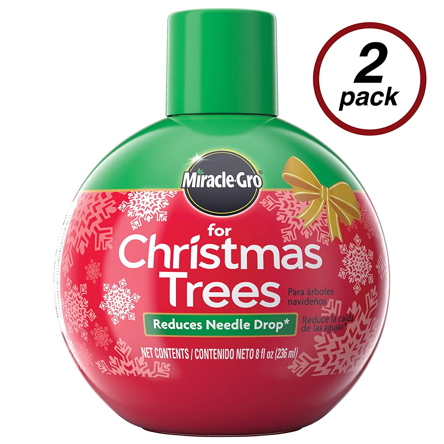 Miracle-Gro for Christmas Tree Plant Food, Hydrates Trees and Keeps Christmas Trees Green All Holiday Season, 2 Pack