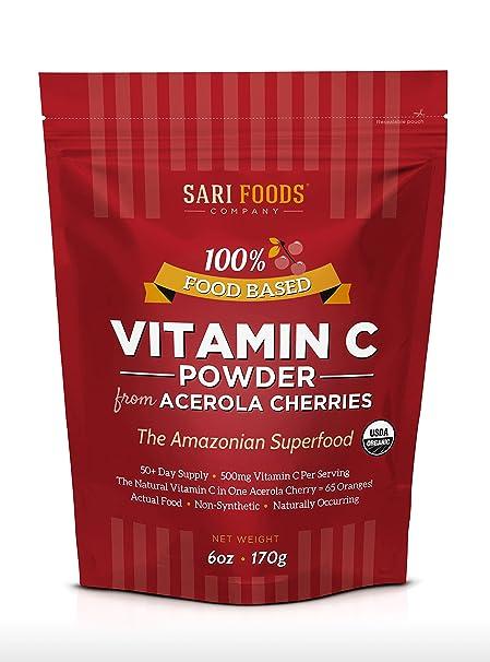 Vitamina C organica natural eco bio en polvo de Acerola (Acerola Cherry Organic Vitamin C