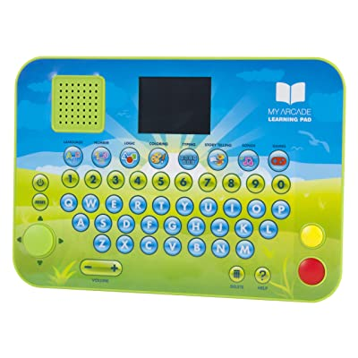 dreamGEAR My Arcade Learning Pad Educational Toy: 70 Brain and Puzzle Games, Over 200 Retro Style Games, Listen to Stories, Sing Songs, Play Games, 2.75 Inch Color Display, Battery Powered: Electronics