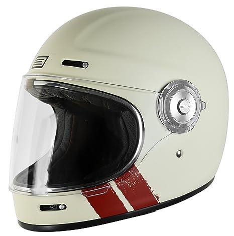 Origine - Vega - Casco integral de fibra de vidrio – Café Racer XL (61