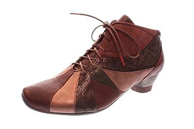 Think Damen Halbschuh/Schnürer Aida - F1/2 chianti kombi (Rot) 87264-35 • Schuhe