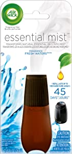 Air Wick Essential Oils Diffuser Mist Refill, Fresh Water Breeze, 1ct, Air Freshener