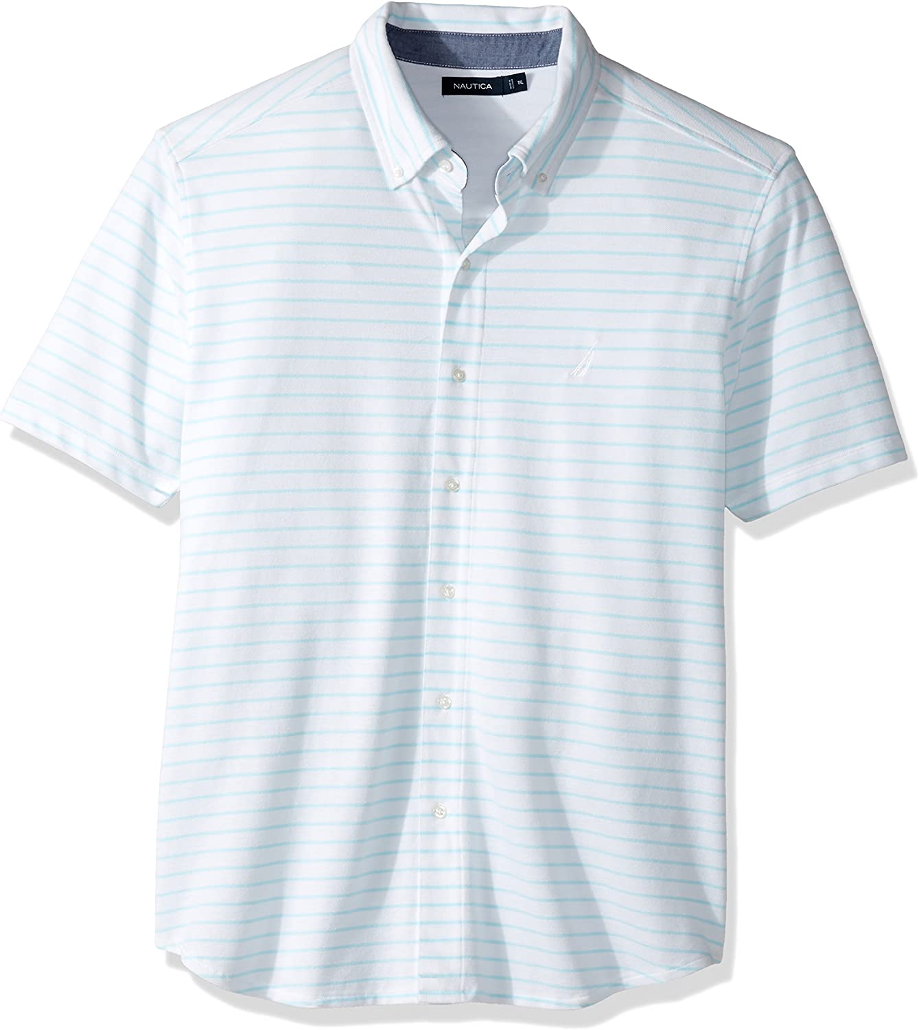 Nautica Mens Big /& Tall Short Sleeve Classic Fit Quilted Polo