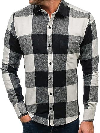 BOLF Herren Flanellhemd Freizeithemd Herrenhemd Holzfällerhemd Kariert 2B2  Mix  Amazon.de  Bekleidung 313e71d94e