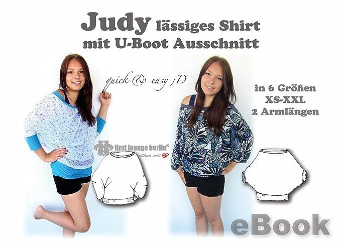 Judy Nähanleitung mit Schnittmuster auf CD für Big Shirt Top Gr. 32 ...