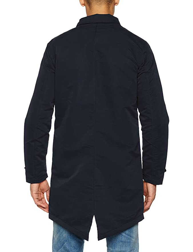 Jorfate Long Jacket, Chaqueta para Hombre, Azul (Total Eclipse), Large Jack & Jones