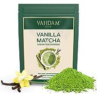 VAHDAM, Vanille + Matcha Groene Thee Poeder (50 Porties) 100g - Heerlijke Matcha Vanille Latte   Krachtig SUPERFOODS…
