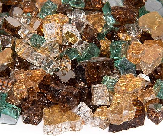 """20 libras 1//2/"""" cobre Reflectante fireglass Chimenea Gas Logs fuego Pit rocas de vidrio"""