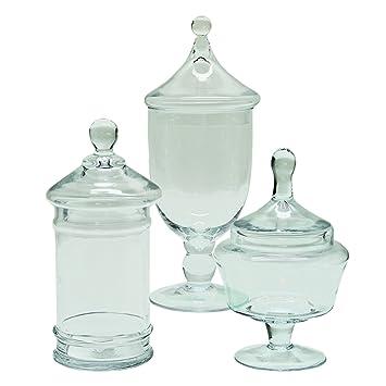 selectives kasper decorative glass jars with removable lids set of 3 small - Large Glass Jars