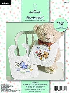 Amazon.com: Bucilla 47784 Tee Pee Bears Stamped Cross Stitch Kit, 9 ...