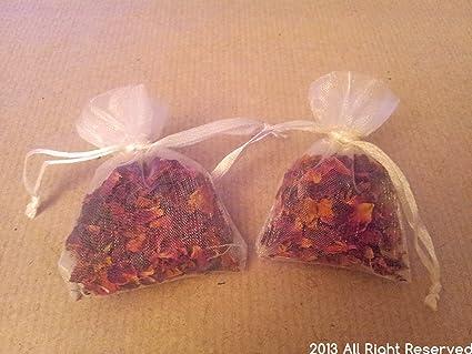Seca rosa pétalos en pequeñas bolsas - confeti para bodas ...