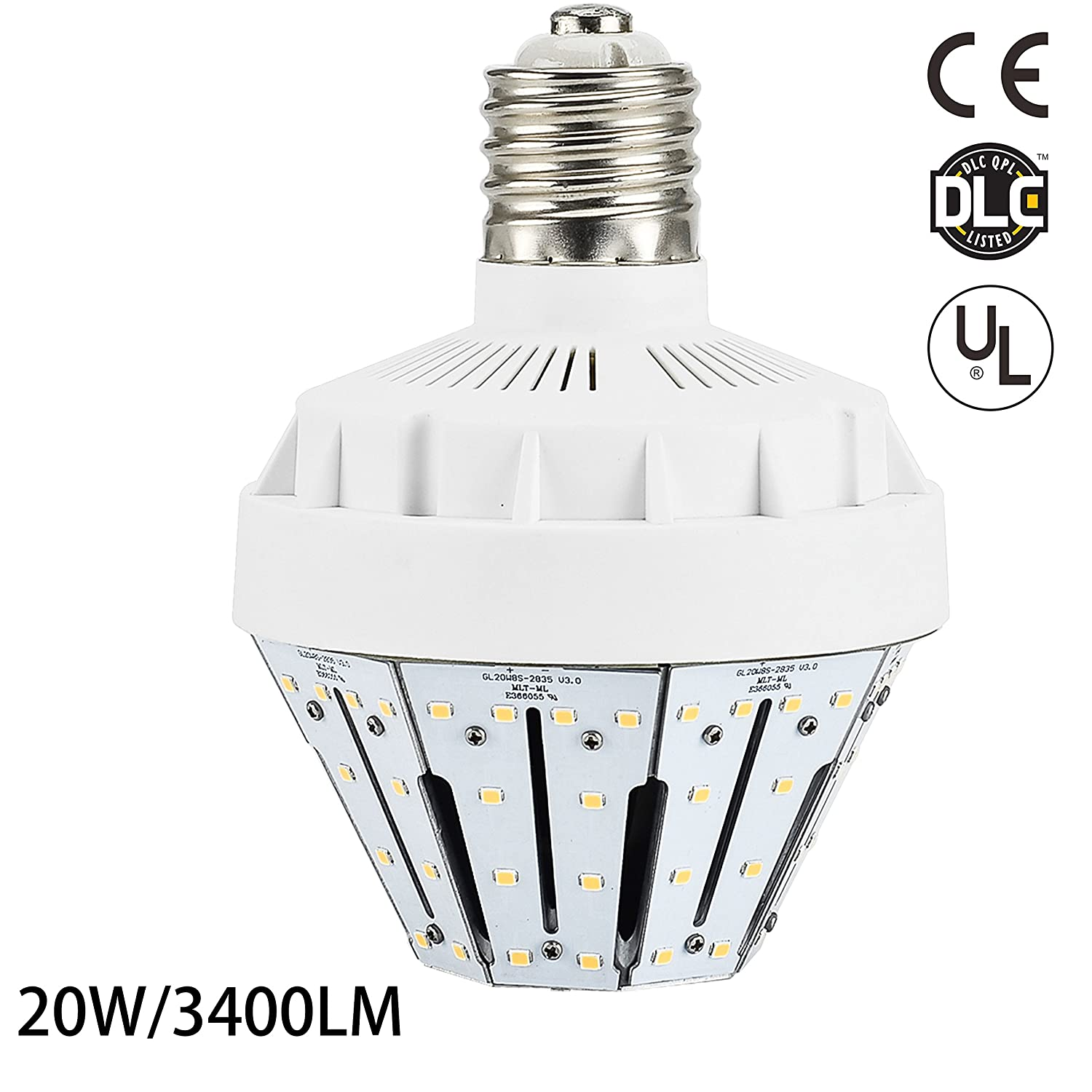 New Sunshine 20w Led Corn Light Bulb For Indoor Outdoor E26 3400lm 3000k Warm White Replacement 75w Cfl Mh Hid Hps Low Bay Street Lamp Post Lighting