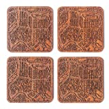 Taipei Map Coaster by O3 Design Studio, Set of