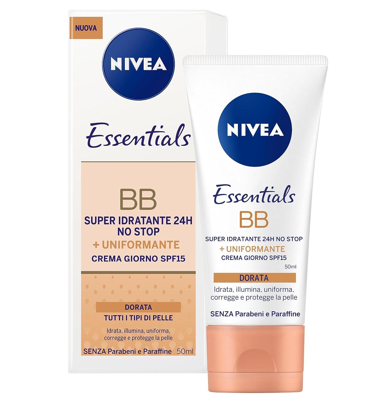Nivea Essentials BB Cream Super Idratante 24 H Uniformante, Crema Giorno Viso SPF 20, Colore Naturale, Confezione da 2 Beiersdorf