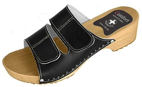 Comfort Line Zuecos de Piel para Mujer  Amazon.es  Zapatos y complementos a089ca385a5