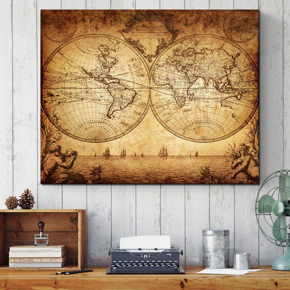 Amazon.com: Sea Charm- Canvas Wall Art, New Antique Vintage Classic ...