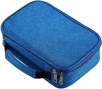 AMGOMH Estuches, 72 ranuras portalápices Caja de lápiz de Estudiantes Organizador Estuche Escolar de caso lapices de colores lápiz bolsa de arte dibujo Estuches Escolares Pencil Case (Azul): Amazon.es: Oficina y papelería