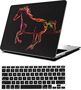 AOGGY MacBook Air 13 Inch Case Model:A1369/A1466,Colorful Pattern Plastic Hard Case with Keyboard Cover for MacBook Air 13.3 Inch(2010-2017 Older Version) - Horse