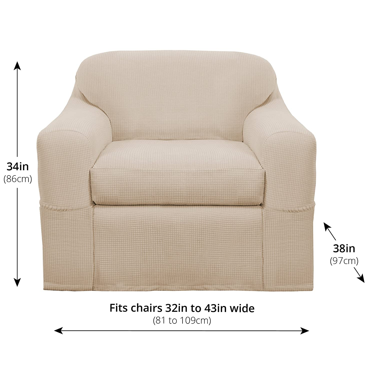 Furniture covers for chairs Chair Slipcovers Amazoncom Maytex Reeves Stretch Piece Arm Chair Furniture Cover Slipcover Natural White Home Kitchen West Elm Amazoncom Maytex Reeves Stretch Piece Arm Chair Furniture Cover