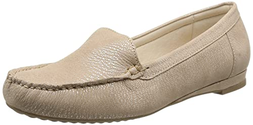 Luxat Indice - Mocasines de cuero para mujer Beige Beige (Chair) 36: Amazon.es: Zapatos y complementos