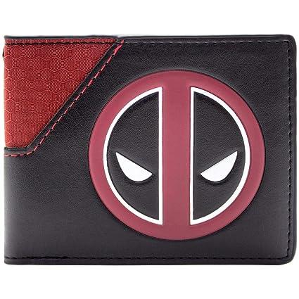 Cartera de Marvel Deadpool Logotipo de la cara Multicolor