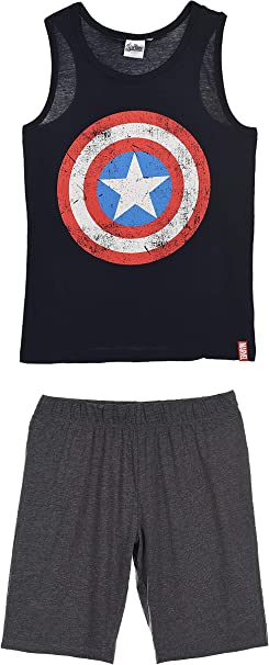 Marvel Avengers Uomo Pigiama Corto