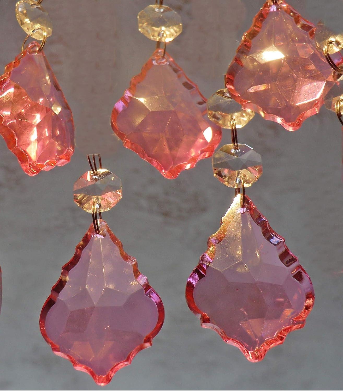 25 Kronleuchter Transparente Tropfen Klarglas Kristalle Perlen Prismen Transparente Tropfen B/ündel Lampe Licht Teile Komponenten Ideal Christbaumschmuck Hochzeit Event Dekor Handwerk