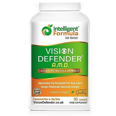 AREDS2 VISION DEFENDER AMD – Fórmula AREDS 2 conveniente para veganos de una vez al día (suministro para 3 meses – 90 tabletas), Suplemento ...
