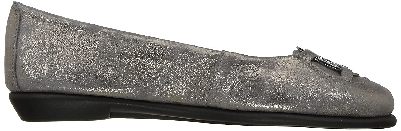 Aerosoles Women's Exhibet B(M) Ballet Flat B06Y62RC39 7 B(M) Exhibet US|Silver Suede 1425bd