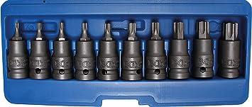 for Torx T55 T-Star 12.5 mm 1//2 Bit Socket length 140 mm Drive BGS 5184-T55
