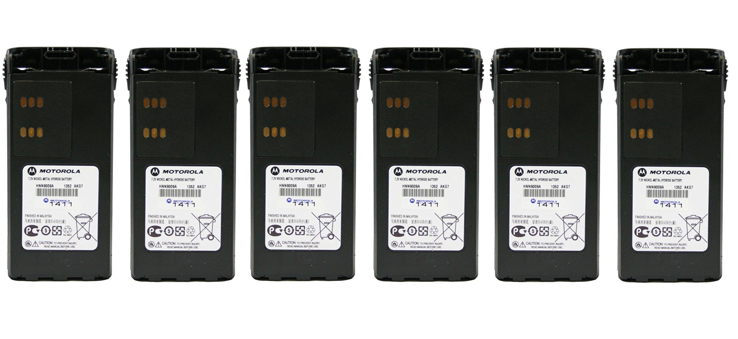New MOTOROLA OEM HNN9009 BATTERY 6 Pack 7.2V NI-MH 1900 MAH works with for HT750 HT1250 HT1250LS PR860 MTX850 MTX950 MTX9250 MTX8250 HT1550Radio