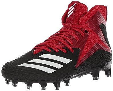 9cbb4546eb81 adidas Men s Freak X Carbon Mid Football Shoe Black White Power red 10 M